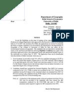 PDFC-DU Ad hoc