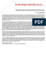 Today Marks the 21st Anniversary of the National League for Democracy NLD Party