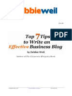 7 Tips to Write a Great Corporate Blog