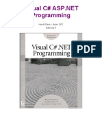 Visual C Sharp ASP .NET Programming 2002