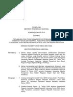 Salinan Permen 22 Tahun 2010 Ttg Perub 47 Thn 2007 Ttg Inpassing