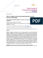 Effects of Sodium Ascorbate and Drying Temperature on Active Protease of Dried Ginger