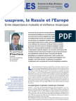 Gazprom, la Russie et l'Europe - Note d'analyse géopolitique n°22