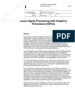 Radar Signal Processing With Graphics Processors (GPUs)
