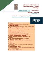 LAMPEA-Doc 2011 – numéro 20 / Mercredi 1er juin 2011