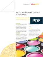 Ss SAP Technical Upgrade Deployed at Asian Paints