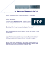 Remedies for Balance of Payments Deficit