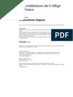 Conferences Cdf 165 Le Plural is Me Religieux
