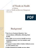 Impact of Floods on Health