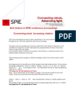 Update in SPIE conference proceedings