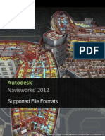 Navisworks 2012 - Supported Formats and Applications