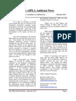 AIPLA Antitrust News Feb 2011
