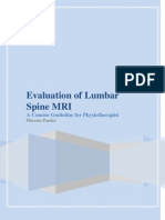 Evaluation of Lumbar Spine MRI