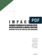 Impactul semnării acordului de asociere între Republica Moldova și Uniunea Europeană pentru piața de capital din Moldova