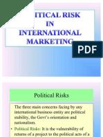 Political RISK IN INTERNATIONAL MARKETING