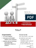 Schimbarea organizațională
