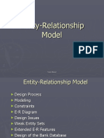Entity Relationship Model - Intro to DB