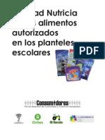 Estudio Calidad Nutricia Alimentos en Escuelas 1a Etapa
