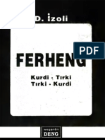 Ferheng Kurdi Tirki Tirki Kurdi