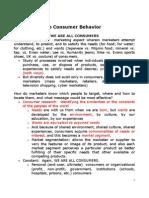 2. Introduction to Consumer Behavior