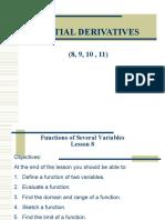 8 - 11 Partial Derivatives Lessons 8 11