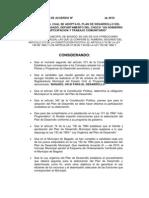 PROYECTO DE ACUERDO Nº  de 2010 REAL