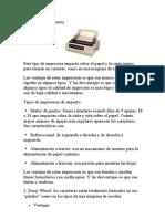 Impresoras de Impacto