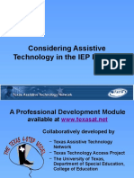 Texas Assistive Technology Network Webinar with Autism NOW May 26, 2011