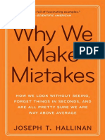 Why We Make Mistakes by Joseph T. Hallinan - Excerpt