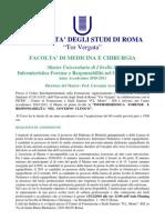Bando Master Infermieristica Forense 2010-2011