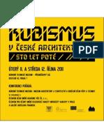 Konference Kubismus v české architektuře (Sto let poté) - pozvánka