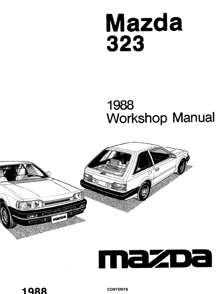 complete 1988 mazda 323 workshop manual belt mechanical rh scribd com mazda 323 b3 engine manual pdf mazda b3 engine service manual
