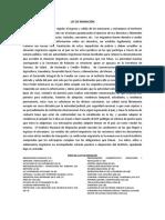 resumen LEY DE MIGRACIÓN