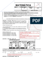1ª Prova de Matemática - 2ª Etapa