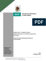 ngifg006 Norma para depuración y cancelación de saldos