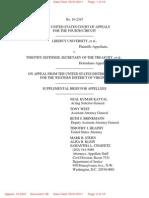 Liberty v. Geithner Govt Supplemental Brief