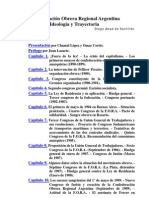 ABAD de SANTILLAN La Federacion Obrera Regional a Ideologia y Trayectoria