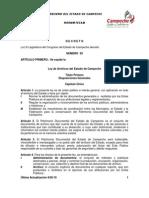 Ley de Archivo Del Edo de Campeche Actual