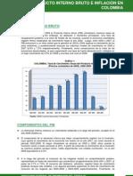 EVOLUCIÓN DEL PIB E INFLACIÓN EN COLOMBIA, 2000-2009