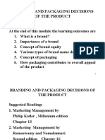 Branding and Packaging Decisions of the Product 26.10