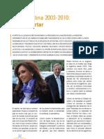 La Argentina 2003-2010