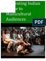 Presenting Indian Dance to Multicultural Audiences