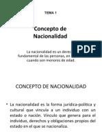 CONCEPTO DE NACIONALIDAD Y ADQUISICION DE LA NACIONALIDAD ESPAÑOLA