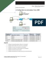 Configuration Du Commutateur Cisco 2960