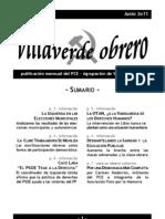 Villaverde Obrero - Número 0 - Junio 2011