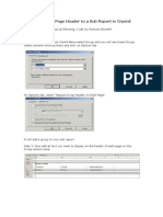 How to Add a Page Header to a Sub Report in Crystal Reports