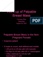 Work-Up of Palpable Breast Mass
