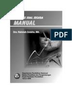 Analisis Soal Secara Manual