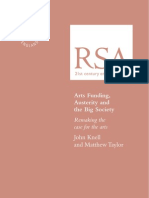 48385794 Arts Funding Austerity and the Big Society Remaking the Case for the Arts RSA Pamphlets
