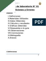 Informe de Lab Oratorio N01